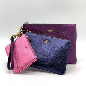 Coach Triple Pouch In Colorblock